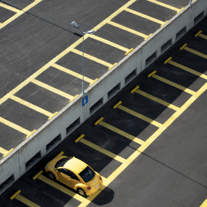 yellow car park line marking